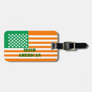 Irish American Travel Bag Tag
