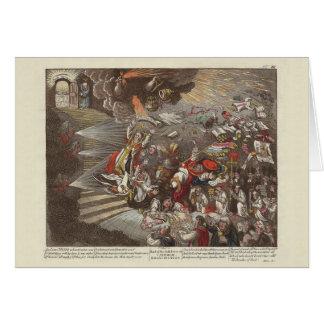 Irish and British History James Gillray Caricature Card
