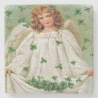 Irish Angel From Vintage Postcard, Marble Coaster