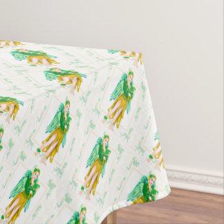 "IRISH ANGEL ST-PAT Tablecloth COLOR LIPS 52""x70"""