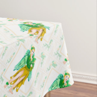 "IRISH ANGEL ST-PAT Tablecloth COLOR LIPS 60""x104"""