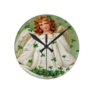 Irish Angel Wall Clock, Ireland Wallclocks