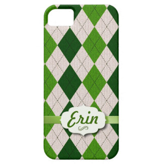 Irish Argyle with name tag iPhone 5 Cases