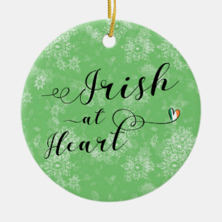 Irish at Heart, Christmas Tree Ornament, Ireland Ceramic Ornament