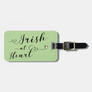 Irish At Heart Luggage Tag Template, Ireland