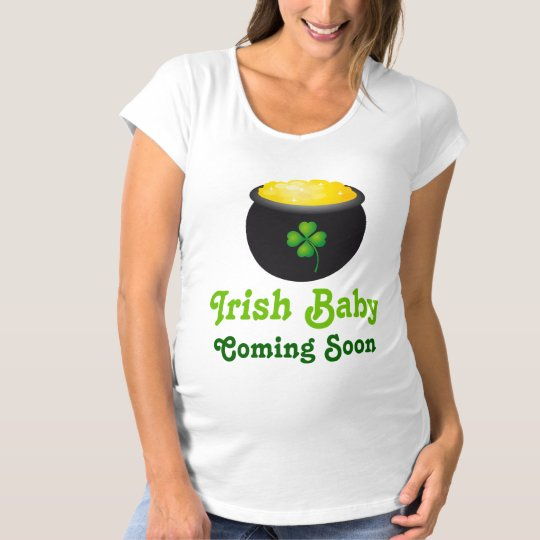 Irish Baby Coming Soon Pregnancy Announcement Maternity T-Shirt