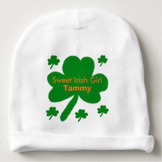 Irish Baby Girl Shamrocks Hat Baby Beanie