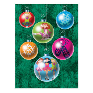 Irish Baubles Christmas Card