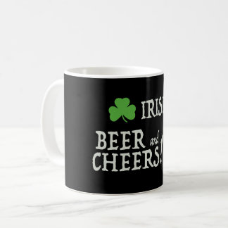 Irish Beer and Cheers Mug