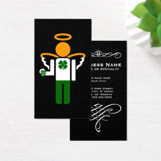 irish beer angel business card