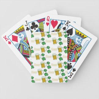 Irish Beer Clovers Poker Deck