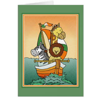Irish Birth Announcement Animal Voyage Template