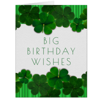 Irish Birthday Girl or Guy Big Card From All