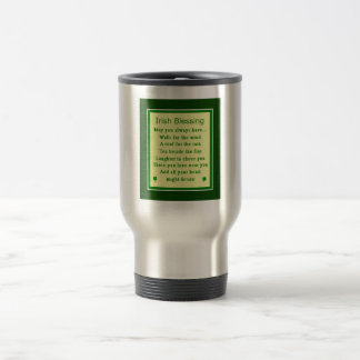 Irish blessing 15 oz stainless steel travel mug