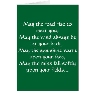 Irish Blessing 2 Card