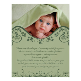 Irish Blessing - a Guardian Angel Always Near Poster