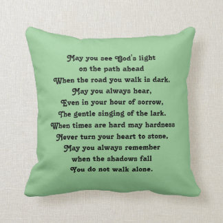 irish blessing and abstract art throw pillow