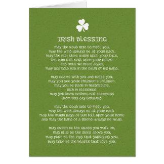 Irish Blessing and Shamrock Card