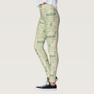Irish Blessing - Choose Your Background Color Leggings