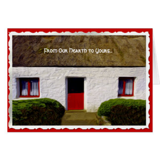 Irish Blessing Christmas Cottage Card - Blessing