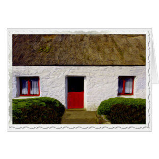 Irish Blessing Cottage Christmas Card - Blessing