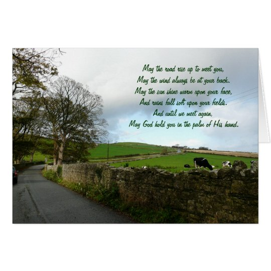 Irish Blessing-Country Landscape Card