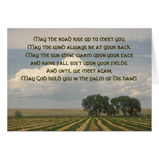 Irish Blessing Farmland Photo Card