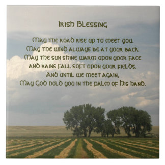 Irish Blessing Farmland Photo Ceramic Tiles