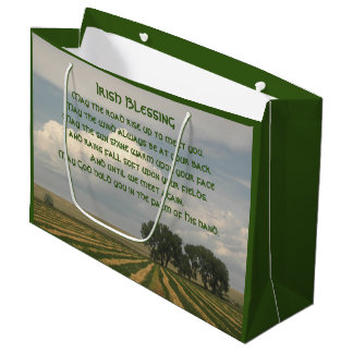 Irish Blessing Farmland Photo Large Gift Bag