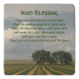 Irish Blessing Farmland Photo Trivet