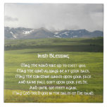 Irish Blessing Green Valley Photo Ceramic Tiles