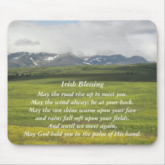 Irish Blessing Green Valley Photo Mouse Pad