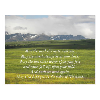 Irish Blessing Green Valley Photo Postcard
