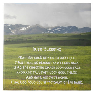 Irish Blessing Green Valley Photo Tile