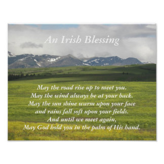 Irish Blessing Green Valley Poster