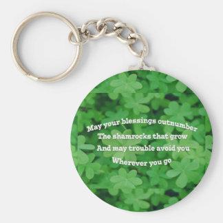 Irish Blessing Keychain