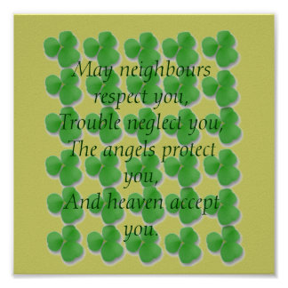 Irish Blessing-May neighbours respect ... Poster