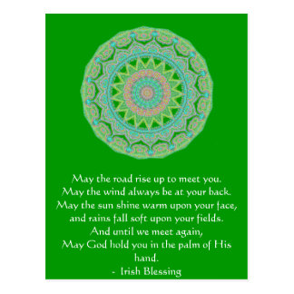 Irish Blessing may the road Postcard