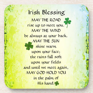 Irish Blessing, May the road rise up to meet you Beverage Coasters