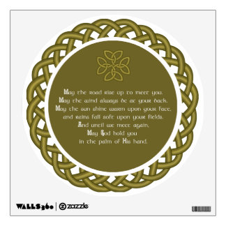 Irish Blessing - May The Road Rise Up To Meet You Wall Sticker