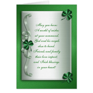 Irish blessing note card blank