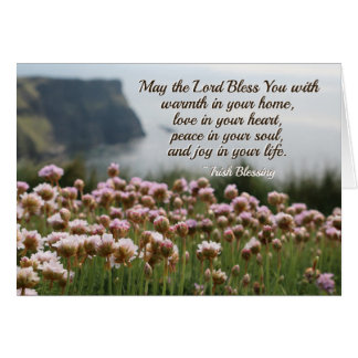 Irish Blessing, Peace in Your Soul, Cliffs Ireland Card