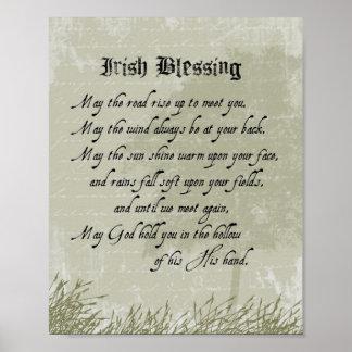 Irish Blessing Poster