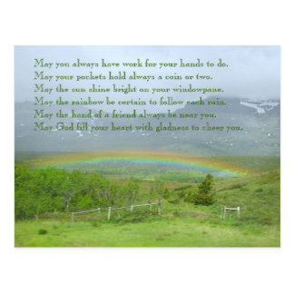 Irish Blessing Rainbow Photo Postcard
