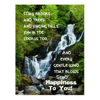 Irish Blessing Torc Waterfall Ireland Postcard