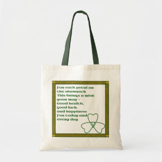 Irish blessing tote