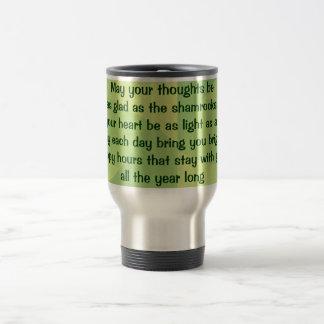 Irish blessing travel mug