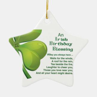 Irish Blessings Green Shamrock, Celtic Christmas Tree Ornaments