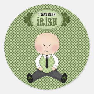 Irish Born St. Patrick's Day Stickers Seals