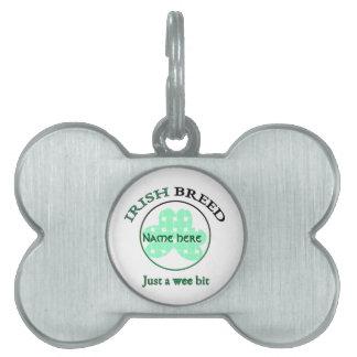 Irish breed-just a wee bit pet ID tag